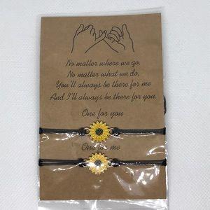 Jewelry - 2 Sunflower Friendship Bracelets